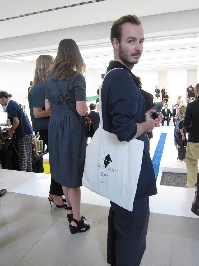 Say Say Say bags sighted at Jil Sander Fashionshow
